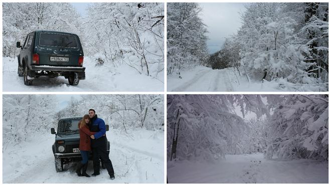 Два дня в снегах Туапсинских гор